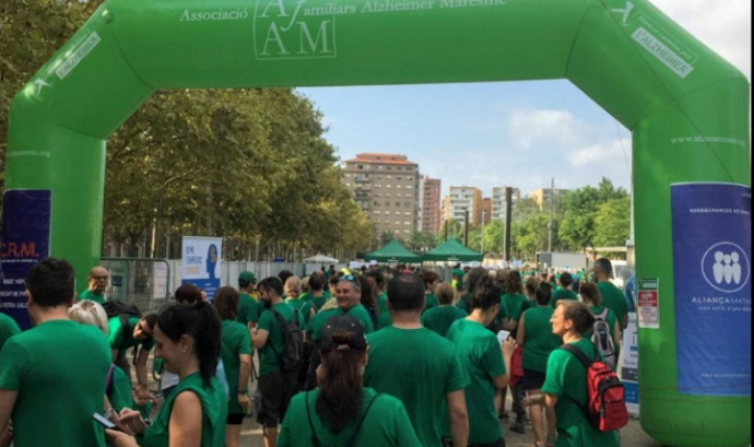 L'organització necessita 100 persones voluntàries Font: Associació de familiars d'Alzheimer del Maresme