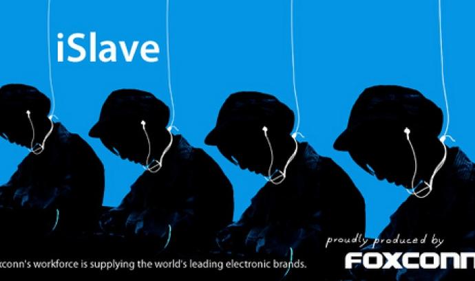 Foxconn fabrica amb unes condicions denigrants. Imatge: Greenpeace suissa. Font: