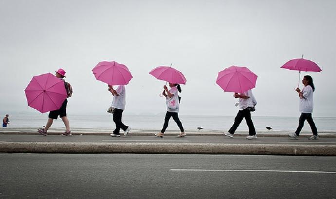 El rosa és el color de la lluita contra el càncer de mama Font: