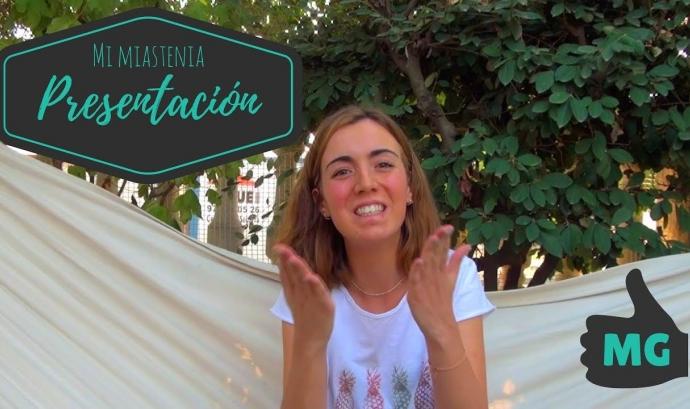 Vídeo de presentació del canal 'Mi Miastania' d'Alba Granell. - Font: Mi Miastenia Font: Mi Miastenia
