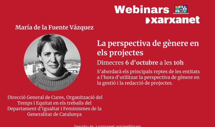 'La perspectiva de gènere en els projectes' amb Maria de la Fuente. Font: Xarxanet