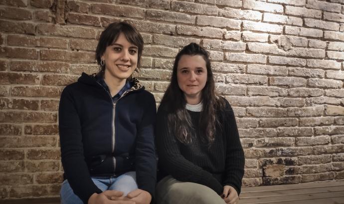 Mireia Buenaventura i Núria Campdepadros, equip de Memòria històrica de la cooperativa Trama. Font: Cooperativa Trama