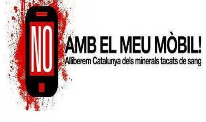 Entitats catalanes promouen la Campanya No amb el meu mòbil! Font: