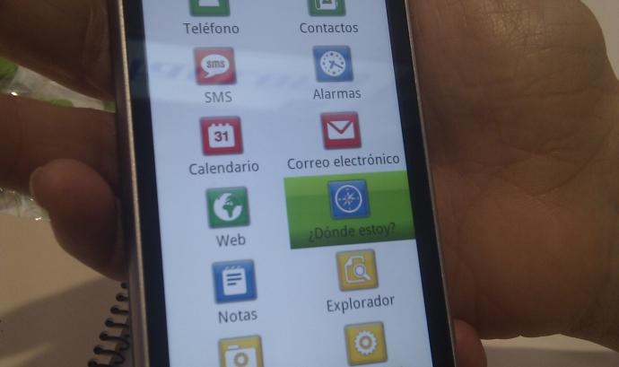 Captura de Mobile Acessibility, l'aplicació per a superar barreres als mòbils.  Font: