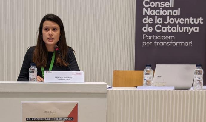 Mònica Torralba, expresidenta del CNJC Font: Consell Nacional de Joventut de Catalunya