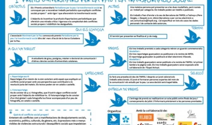 L'MPDL convoca els primers premis universitaris per la pau i la transformació so