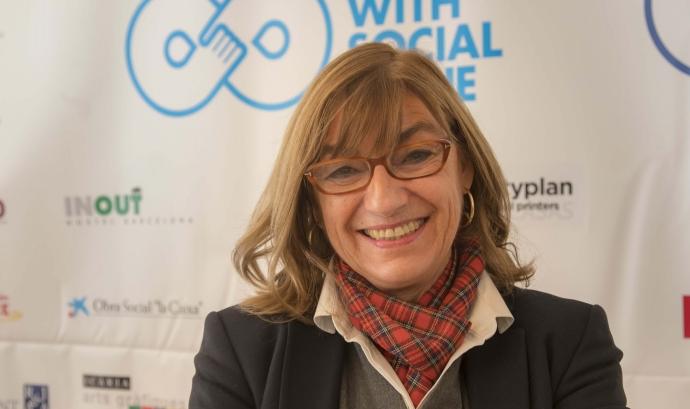 Actualment, Maria José Pujol és pedagoga i directora de l'escola d'educació especial Taiga. Font: Maria José Pujol.