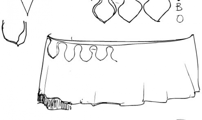 Pau Fernàndez ha dibuixat l'esbós inicial del vestuari de la nova Mulassa. Font: Pau Fernàndez