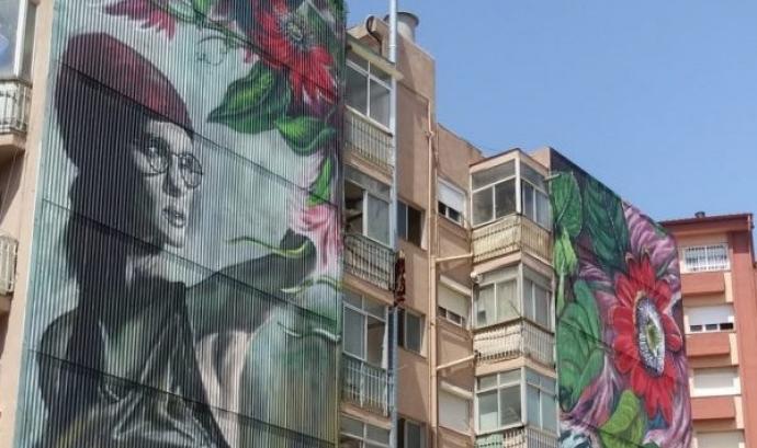 El carrer com a espai de creació artística. Font: AVV Sant Pere Nord
