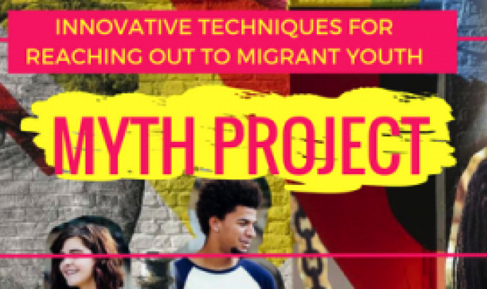 Logo de Myth Project, Innovative Techniques for reaching out to migrant youth Font: ABD