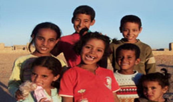 Nens i nenes Sahrauís amb un gran somriure Font: