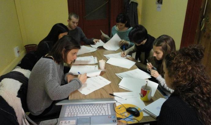 Grup que fa pràctiques laborals a Florència en el marc de Care for Diversity II Font: