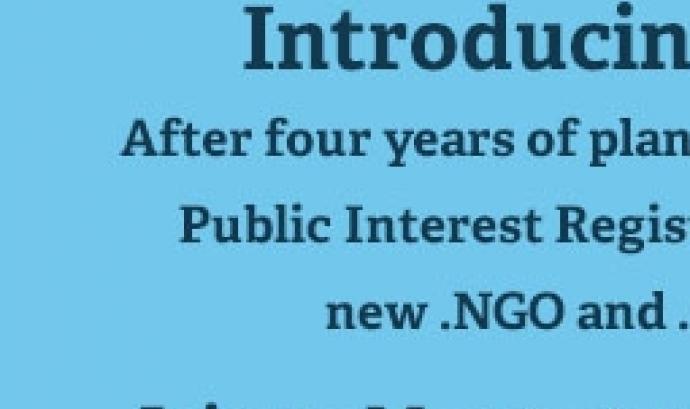 El proper 6 de maig hi haurà un tweetchat sobre els dominis ong i ngo