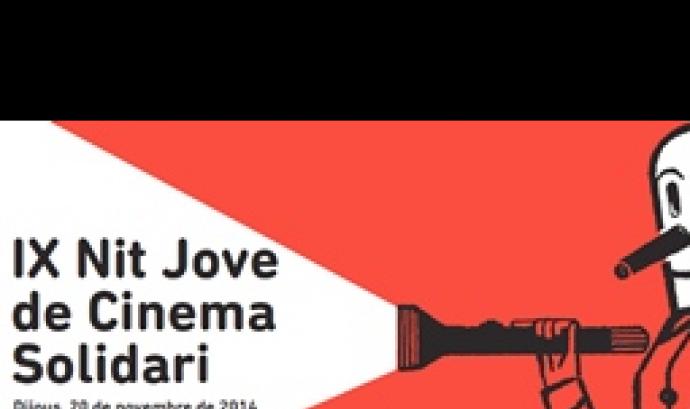 Cartell de la 9a Nit Jove de Cinema Solidari a Girona