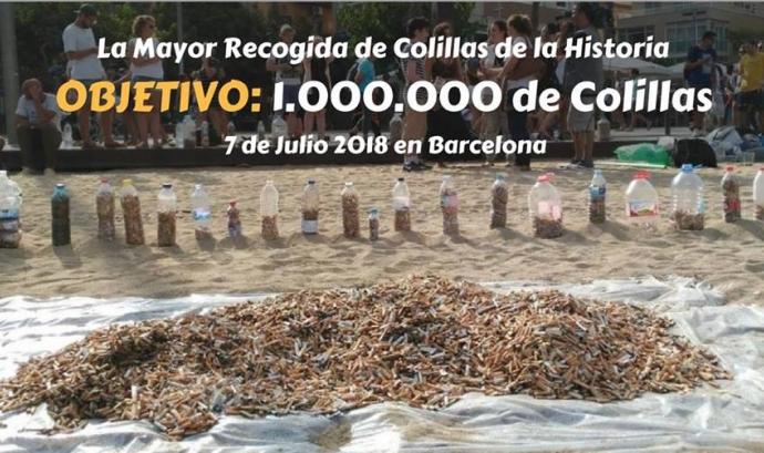 """El 7 de juliol se celebra la recollida de burilles més gran de la història, impulsada per """"No más colillas en el suelo"""""""