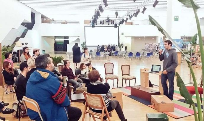 Presentació del projecte durant el Barcelona Ethical Fashion Fest 2017 Font: Ethical Time