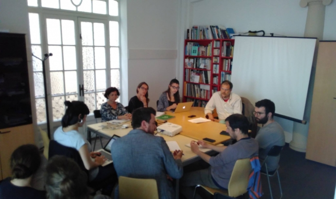 Reunió del grup impulsor de l'OPEV-Catalunya.  Font: OPEV-Catalunya