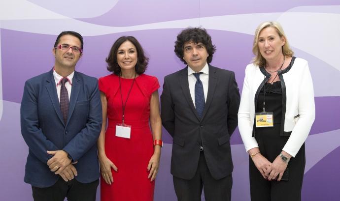 D'esquerra a dreta, Juan Carrión, Isabel Gemio, Mario Garcés i Cristina Fuster, representants de les organitzacions impulsores del projecte Font: Fundació Gemio