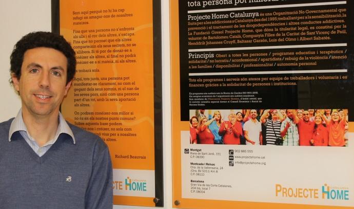 Oriol Esculies és el president de Projecte Home. Font: Projecte Home Font: