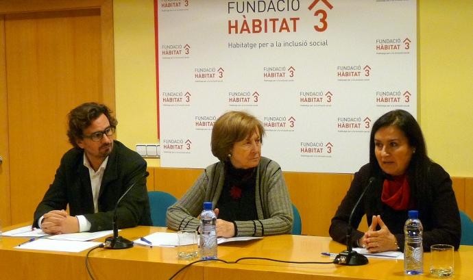 Imatge de la roda de premsa. Font: la Taula d'entitats del tercer sector social de Catalunya Font: