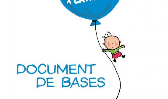 Portada del Document de Bases per al Pacte per a la infància a Catalunya