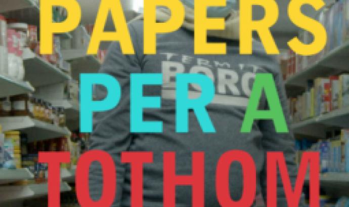 Cartell Cicle de converses 'Papers per a tothom'. Font: Casa nostra, casa vostra