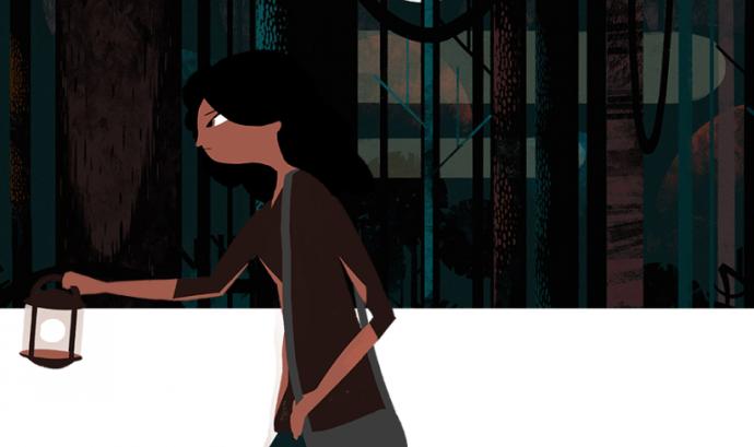 Samara, una noia gitana de 18 anys, és la protagonista de l vídeo d'animació de la campanya 'Partir de Cero' Font: Fundación Secretariado Gitano
