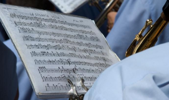 Imatge d'una partitura Font: