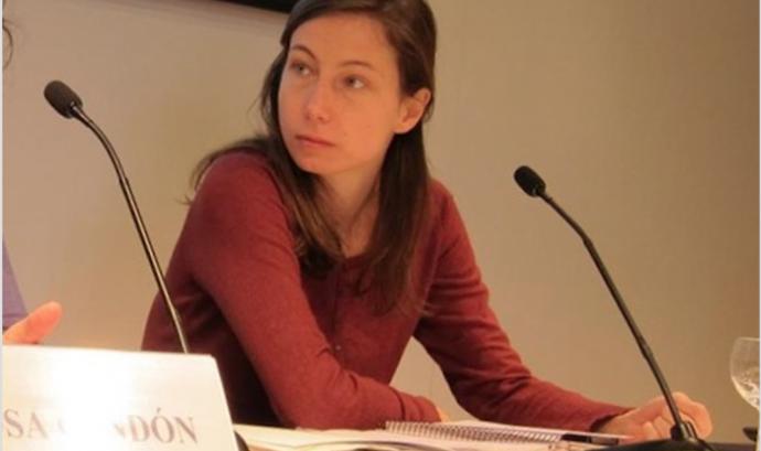 Pascale Coissard,  portaveu de la Comissió Catalana d'Ajuda al Refugiat Font: CCAR