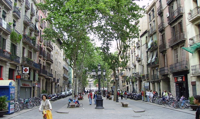 El Passeig del Born Font: Wikimedia