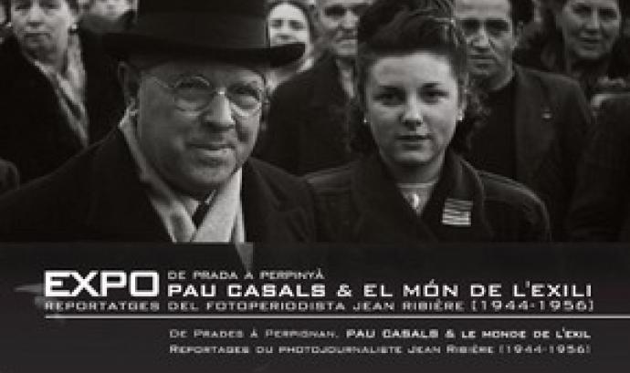 Cartell Exposició 'De Prada a Perpinyà. Pau Casals i el món de l'Exili'