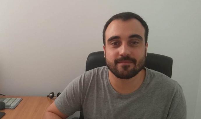 Pere Serra Guàrdia, és el responsable de projectes de la Comissió Catalana d'Ajuda al Refugiat. Font: CCAR.