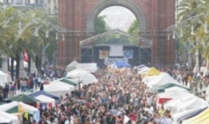 La Fira de la Terra en una de les edicions anteriors a Arc de Triomf de Barcelona
