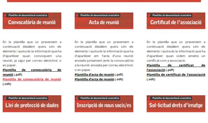 Captura de pantalla del repositori de plantilles Font:
