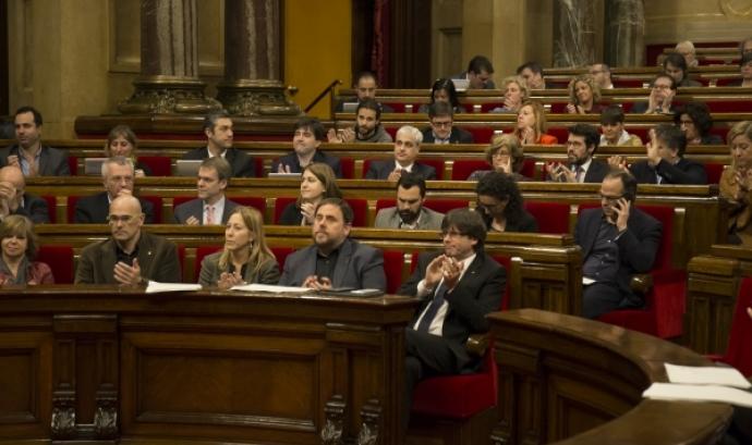 Imatge del ple contra la pobresa. Font: web parlament.cat Font: