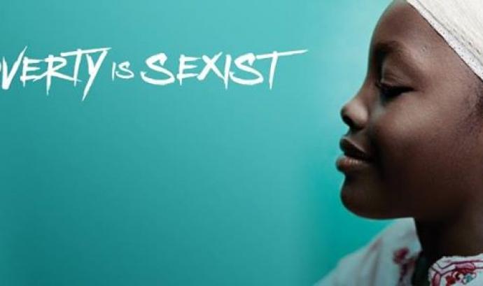 """Imatge de la campanya """"Poverty is sexist"""" Font:"""