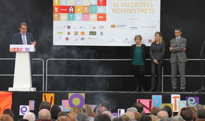Artur Mas a Vilanova i la Geltrú pel Dia Mundial de la Salut Mental