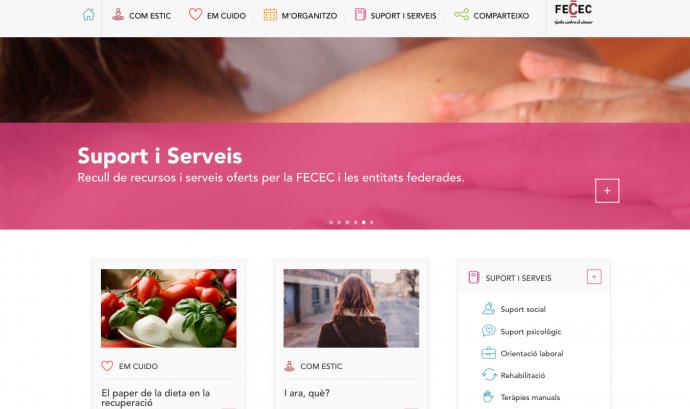 Imatge del portal digital #desprésdelcàncer Font: desprésdelcàncer.cat