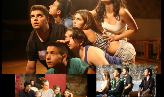 """Cartell de l'obra de teatre """"Per què a mi?"""" dels joves del Forn de teatre Pa'tothom"""