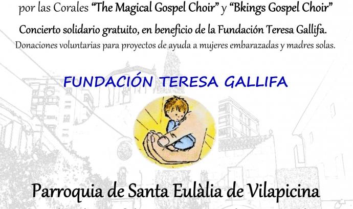Concierto de gospel solidario. Vilapicina. Barcelona