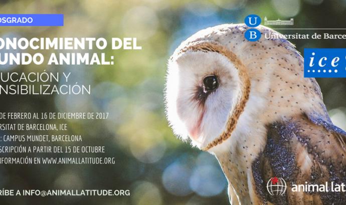 Sessió informativa del postgrau sobre sensibilització i coneixement del món animal (imatge: animallatitude.org)