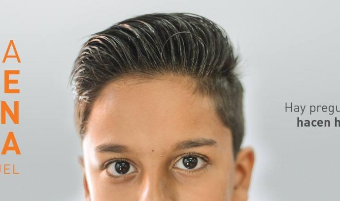 """Imatge de la campanya """"La pregunta de Samuel"""", on podem veure la cara del noi Font: Consejo Estatal del Pueblo Gitano"""