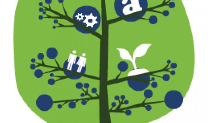 Logotip dels V Premis Joves Emprenedors Socials de la UEM.