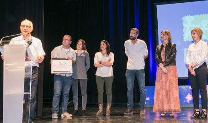 Un moment de l'entrega dels premis Font: