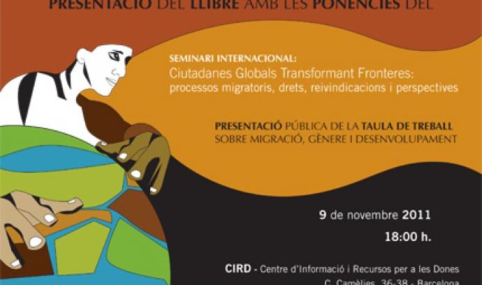 Cartell presentació Taula de Treball sobre Migració, Gènere i Desenvolupament