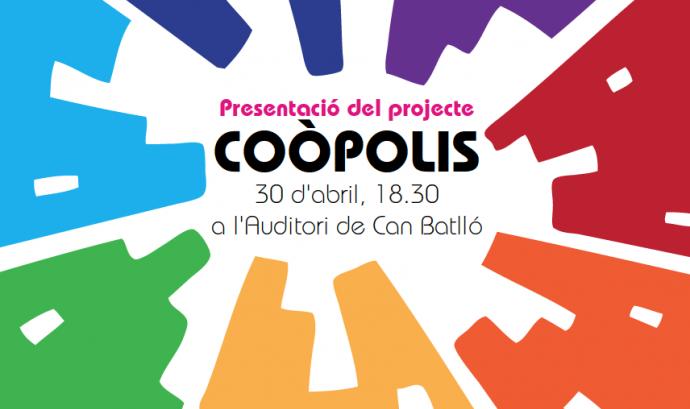 Cartell de la presentació del projecte Coòpolis
