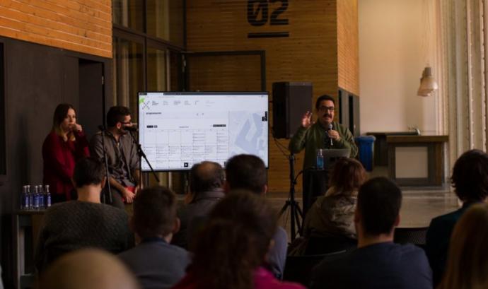 Roda de premsa de presentació de la plataforma web de XRCB