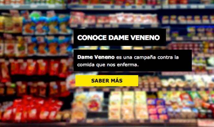 La campanya #DameVeneno demana que les administracions regulin la indústria alimentària. Font: Veterinaris Sense Fronteres (VSF) Font: