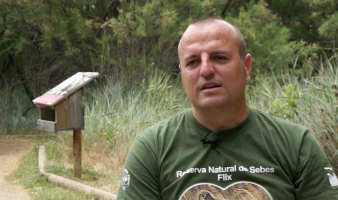 Josep Manel Albiac Machin, president del Grup de Natura Freixe - Flix