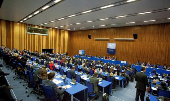 Projecte Home participa a la 61a edició de la Comissió d'Estupefaents de les Nacions Unides. Font: Projecte Home